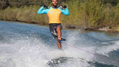 Photo of Daniele Cassioli pluricampione paraolimpico di sci nautico ad Enna
