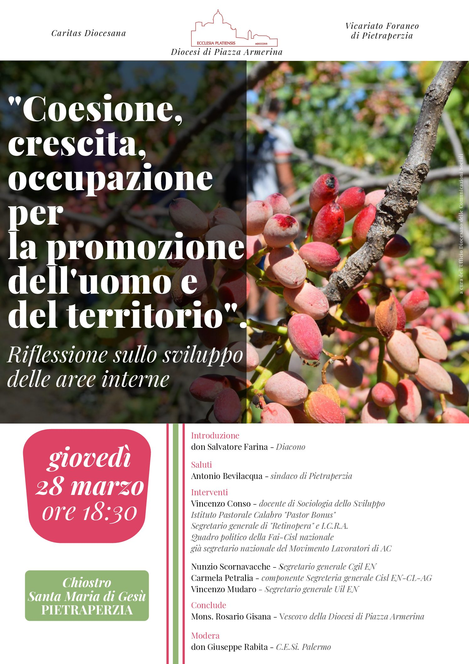 Photo of Coesione, crescita occupazione per la promozione dell'uomo e del territorio. Riflessioni sullo sviluppo delle aree interne.