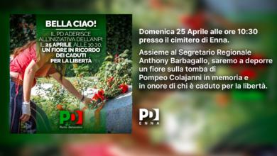 """Photo of Anche il PD ennese aderisce all'iniziativa dell'ANPI """"Strade di coraggio"""""""