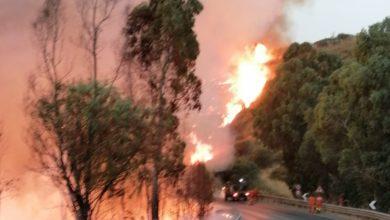 Photo of Ancora fiamme. L'incendio si è spostato verso Grottacalda